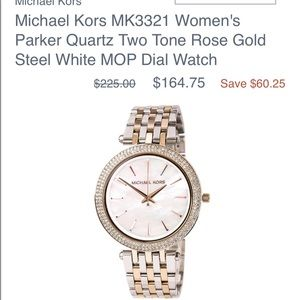 Two toned rose gold MK watch